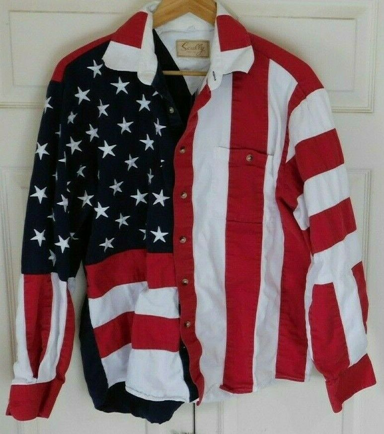 American Flag Button Up Shirt