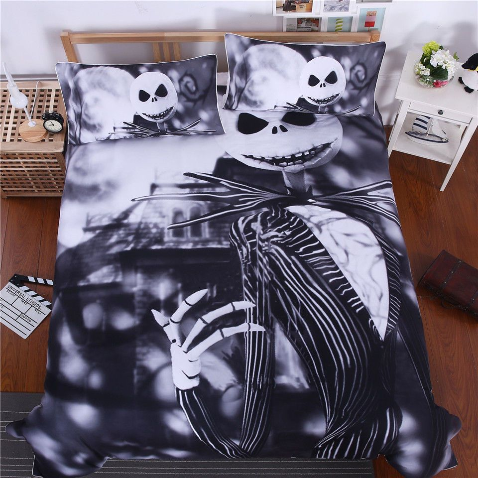 The Nightmare Before Christmas Jack Skellington Quilt Cover Pillow