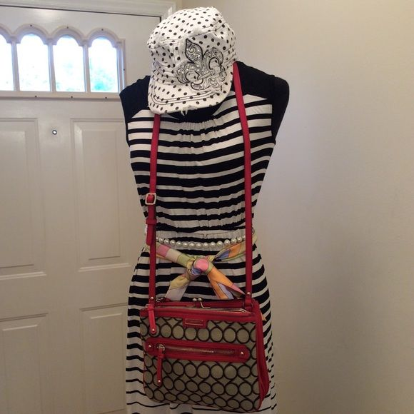 Beautiful hat and Nine West cross body In great condition  Nine West Bags Crossbody Bags
