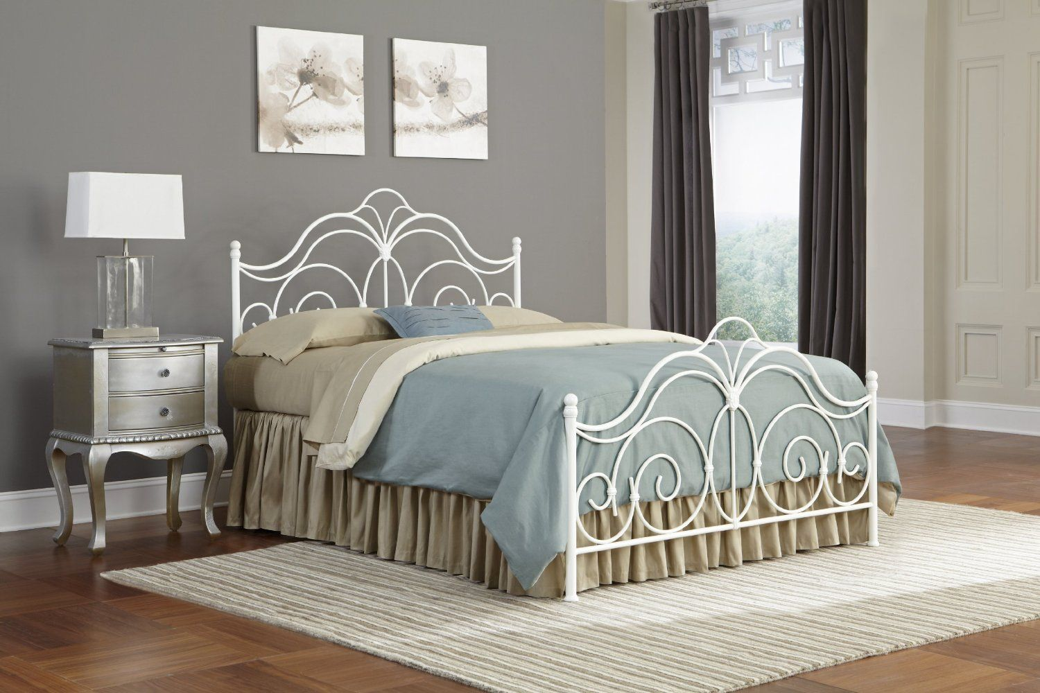 Best Bedroom Dexter Metal Headboard With Decorative Castings 400 x 300