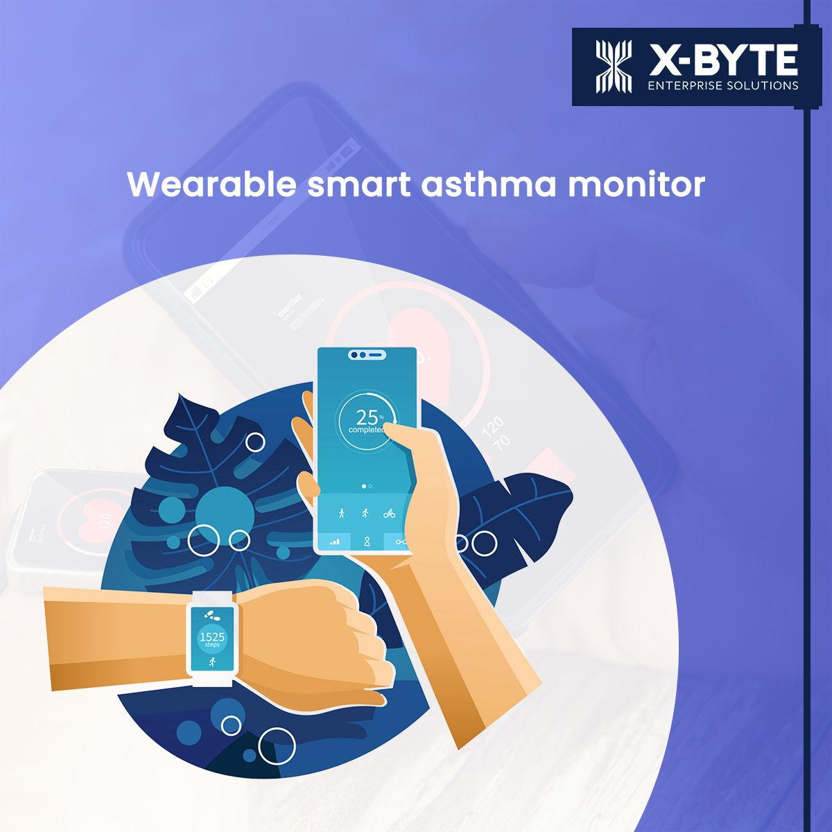 A wearable uses AI to screen asthma symptoms and predict