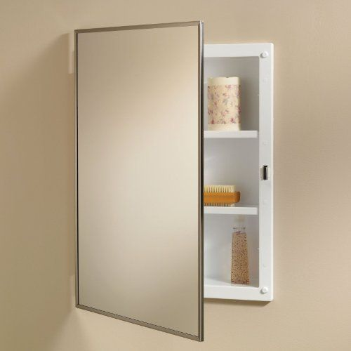 Basic Styleline Cabinet With Two Steel Shelves By Broan Nutone 97 99 Reve Medicine Cabinet Mirror Recessed Medicine Cabinet Bathroom Medicine Cabinet Mirror