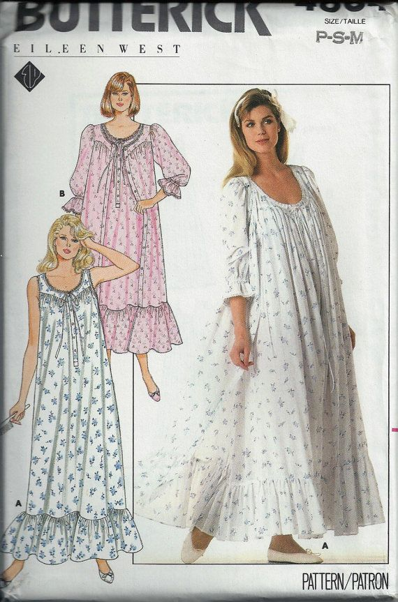 Eileen West Robe & Nightgown Pattern, Butterick 4864, Size 6-14 ...