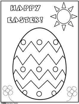 Easter Coloring Page Freebie Innovative Teacher At Tpt
