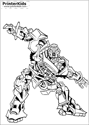 Transformers coloring page megatron transformer print for Transformers prime beast hunters coloring pages
