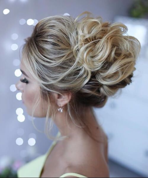 Image Result For Messy Buns For Prom Hair Styles Messy Wedding Hair Medium Hair Styles