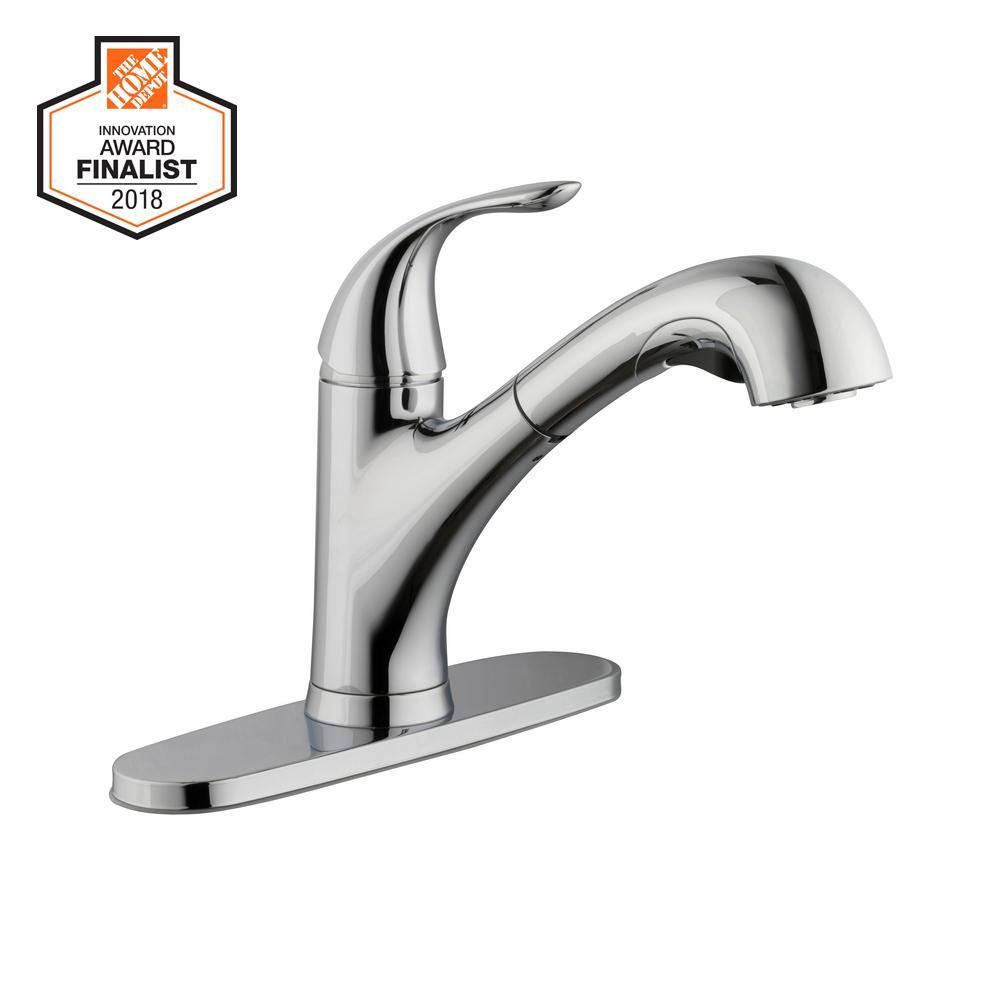 Glacier Bay Market Single Handle Pull Out Kitchen Faucet With