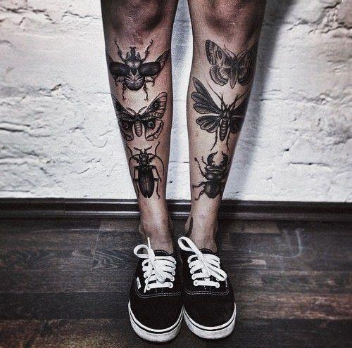 Mann bein tattoo 50 geometrische