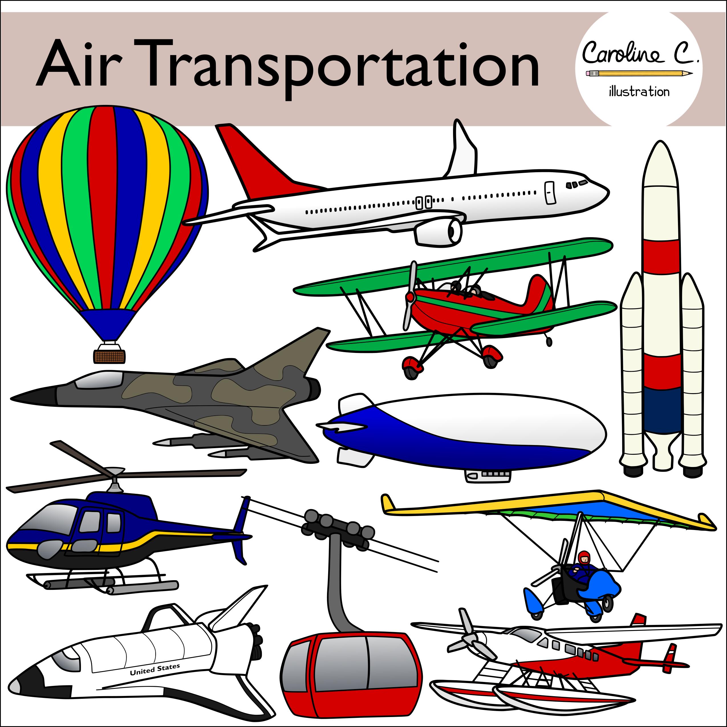Air Transportation Clip Art Clip Art Art Illustration