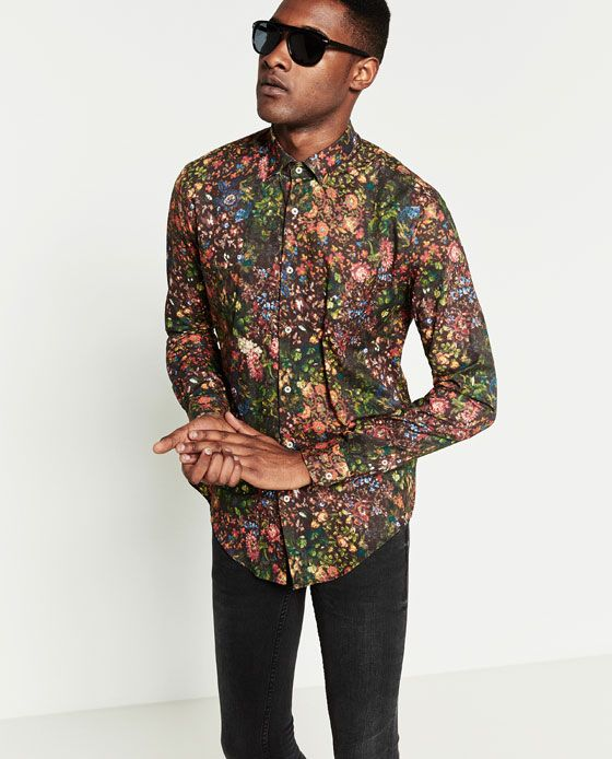 FLORAL PRINT SHIRT from Zara | Wishlist | Pinterest | Floral print ...