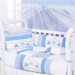 Kit Berço Pratic Baby Azul