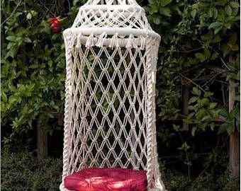 Birdcage Hammock Chair Macrame Hanging Chair Macrame Hanging Chair Macrame Hammock Macrame Chairs