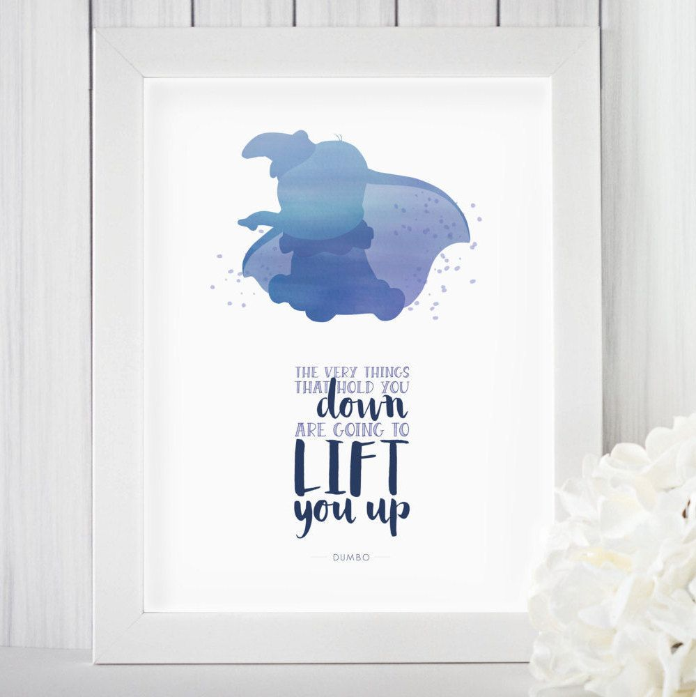 Dumbo Quotes Impressive Watercolor Printable Art Disney Print Dumbo Dumbo Quote Poster . Inspiration Design
