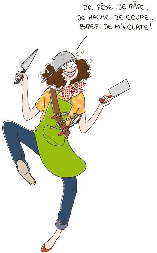 Cuisine .... (avec images) | Illustration drôle, Nathalie jomard, Dessin humour