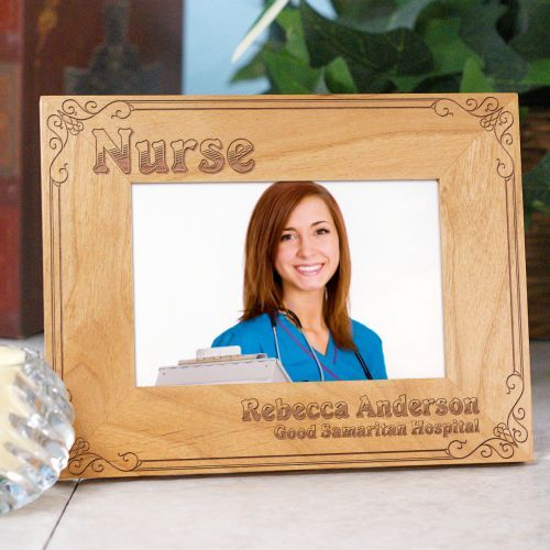 Personalized Nurse Wood Picture Frames #PictureFrames. Being a Nurse ...