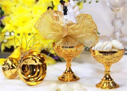 12 Gold Or Silver Wedding Favor Chalice Goblet Cups Plastic 2 Colors Renaissance