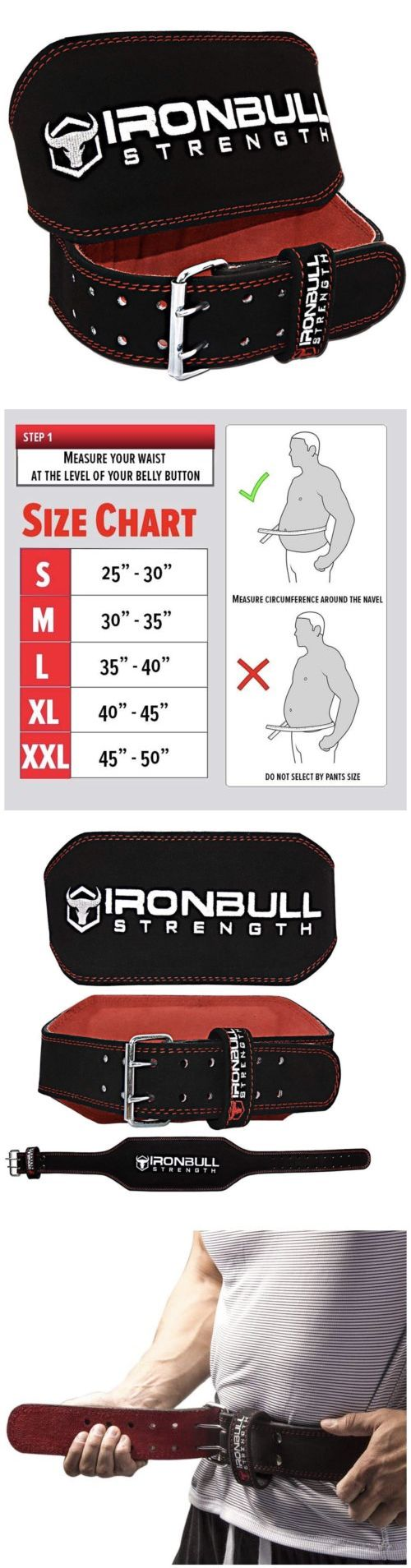 bebf77f955 Belts 36155  Iron Bull Strength Medium M Weight Lifting Belt - 6-Inch  Padded Suede Leather -  BUY IT NOW ONLY   29.5 on  eBay  belts  strength   medium ...