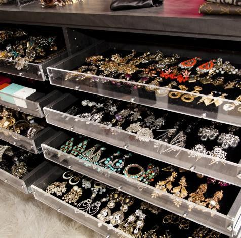 filled drawer in pin organizer and with jewelry n closet walk built drawers features bracelets rings