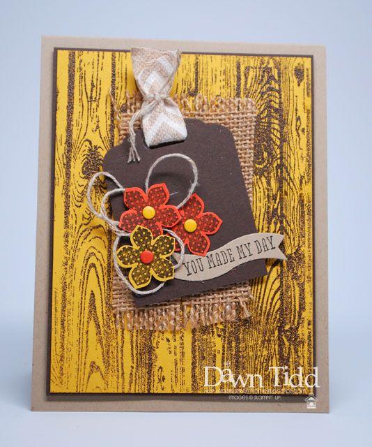 love the woodgrain in this card