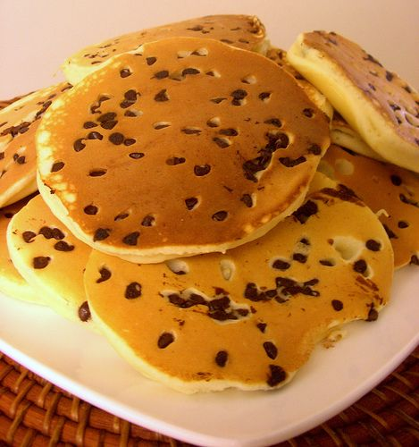 Chocolate Chip Pancakes.  For the pancake/chocolate lover!