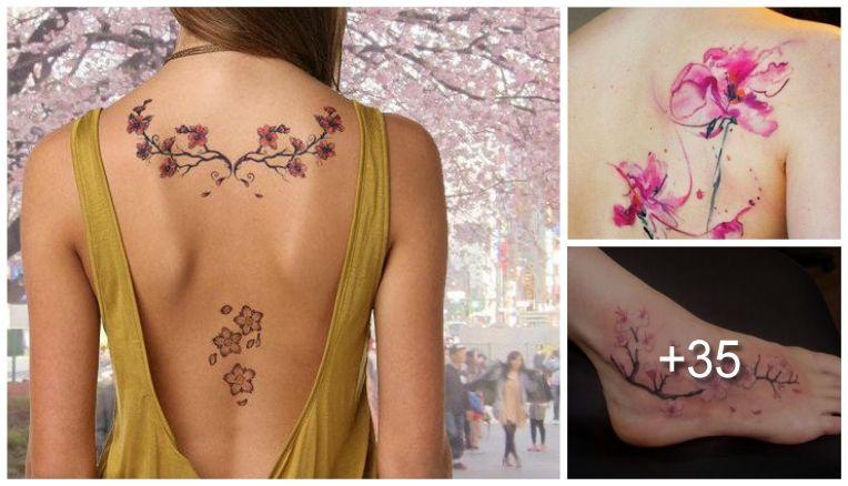 28 Increibles Tatuajes De Cerezos Y Sus Significados Tatuajes De