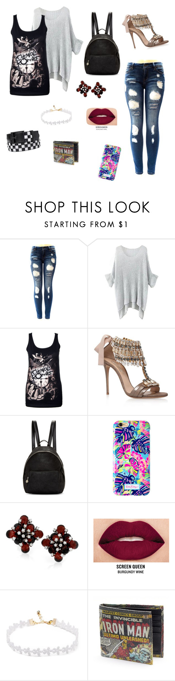 """""""Mad Hatter by Melanie Martinez"""" by flowerypatrick ❤ liked on Polyvore featuring Casadei, STELLA McCARTNEY, Lilly Pulitzer and Smashbox"""