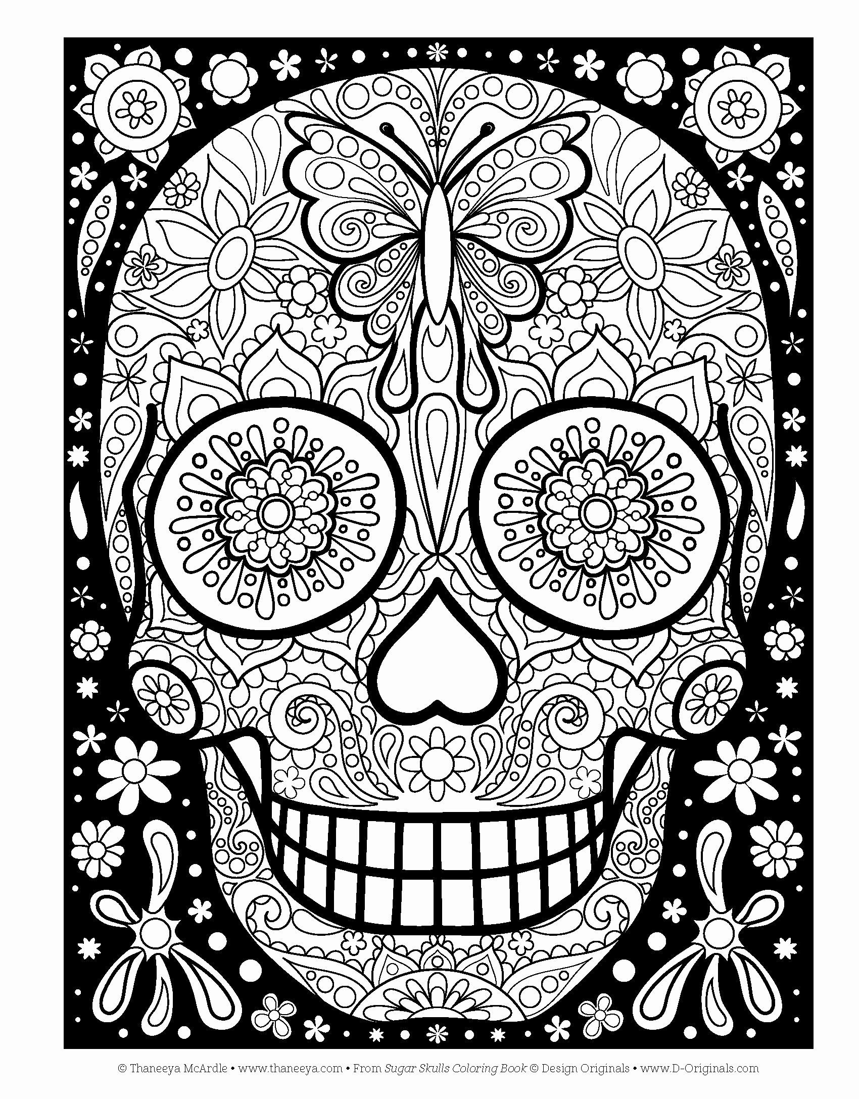 - Sugar Skull Coloring Book Inspirational Day The Dead Owl Coloring
