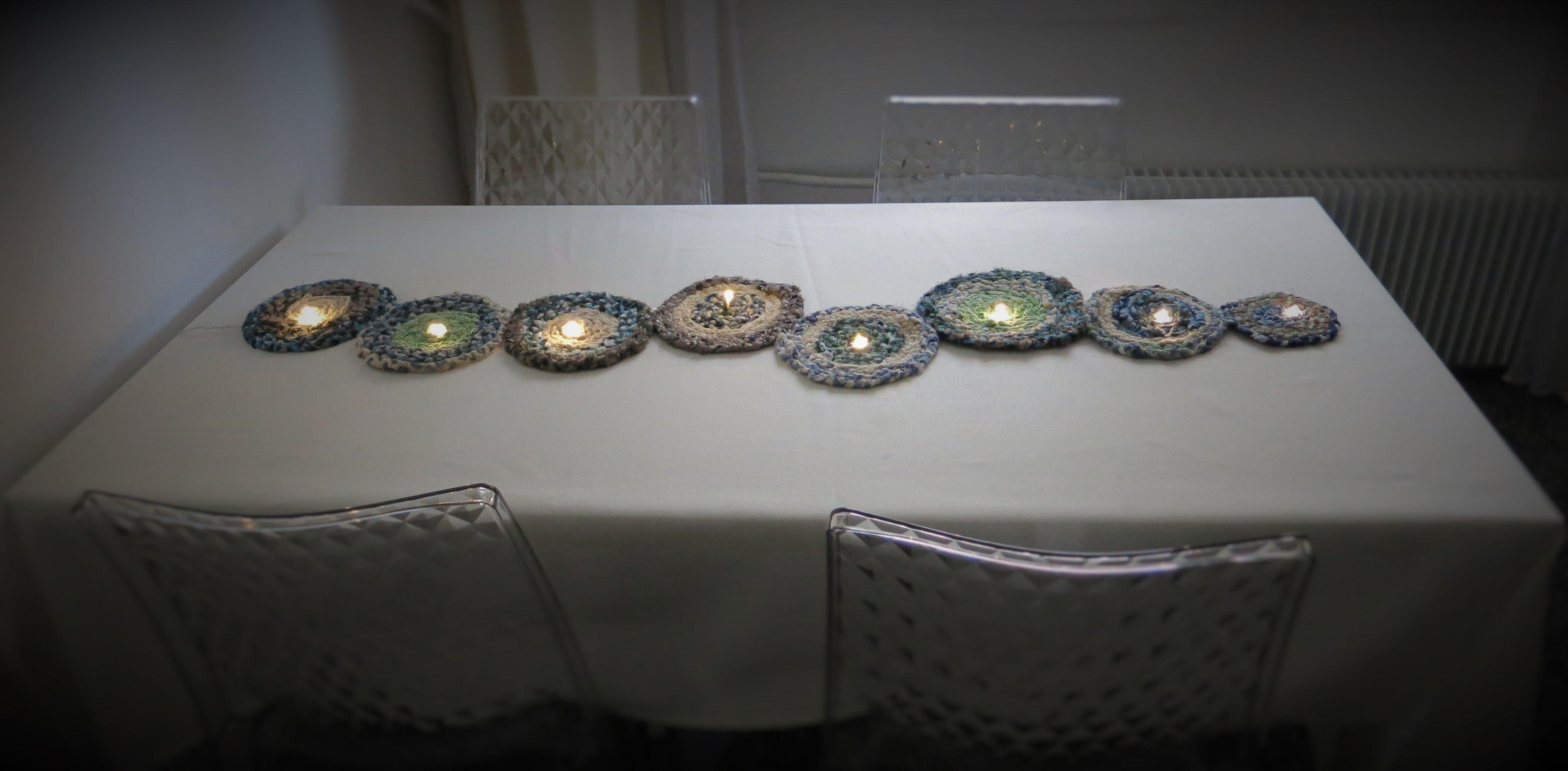 chemin de table lumineux (peut également s\'accrocher sur une porte ...