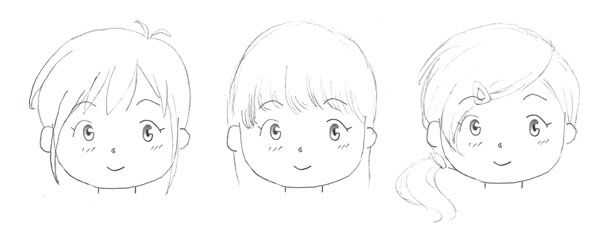 how to draw realistic bangs