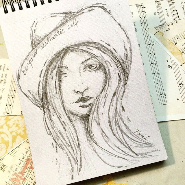 """be your authentic self"" first sketch of 2016...a new"