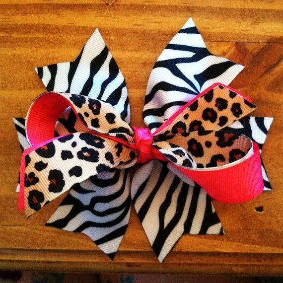 Animal Print HandMade Bows
