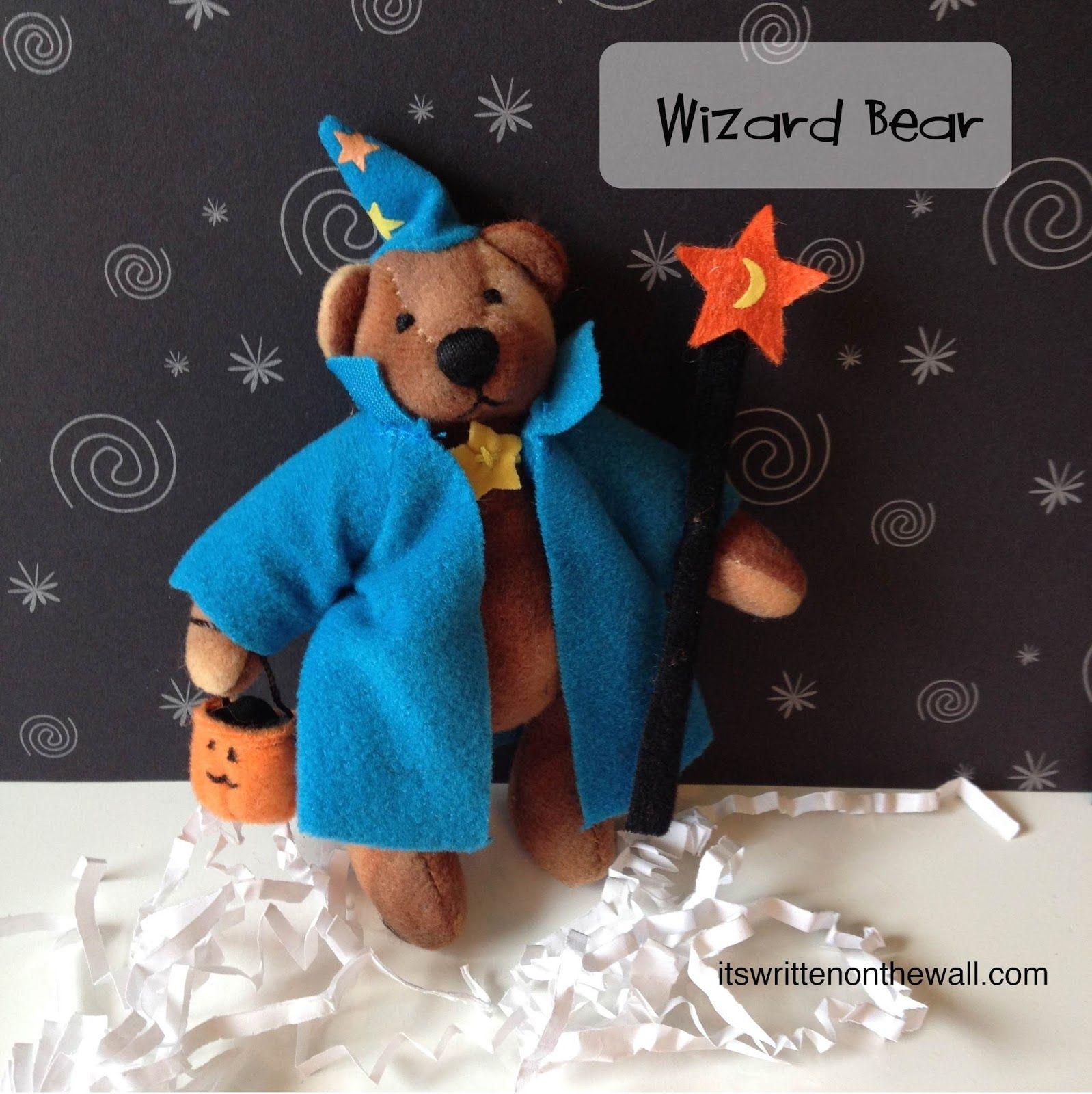 Cute Push Bears in Halloween Costumes - Ballerina, Wizard, Pumpkin and Ghost