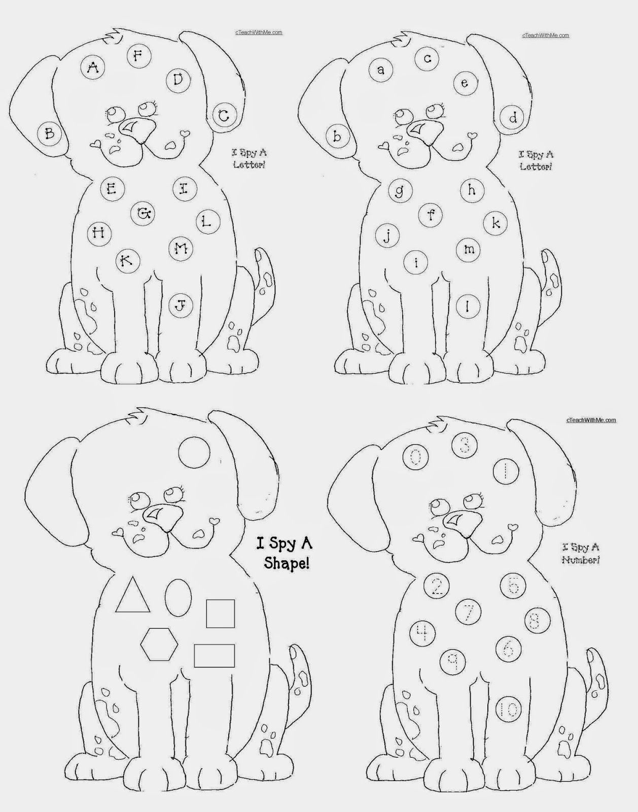 Common Core Fire Safety Puppy Packet
