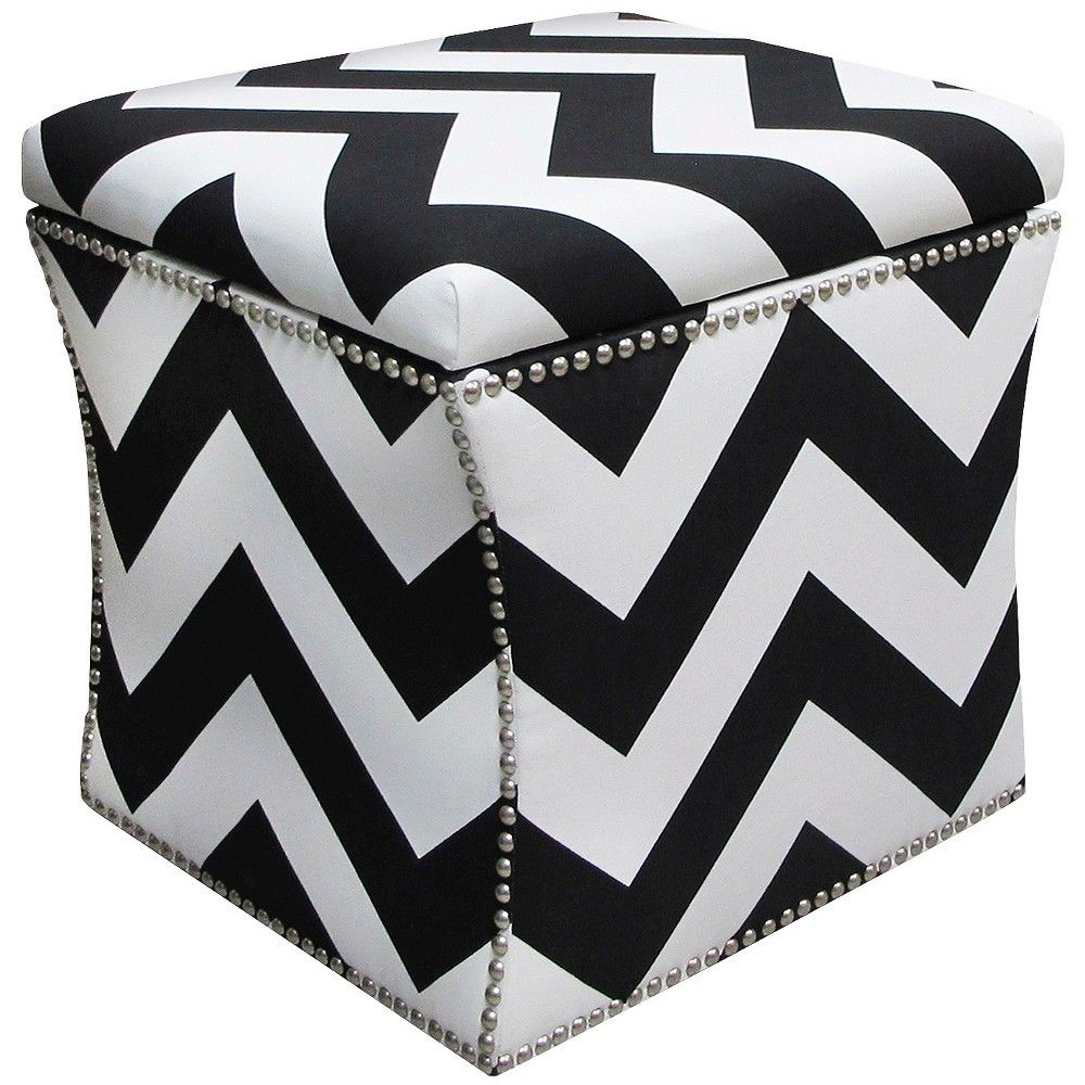 Stupendous Skyline Custom Upholstered Nail Button Storage Ottoman Zig Ocoug Best Dining Table And Chair Ideas Images Ocougorg