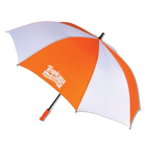 The Auto Open Golf Umbrella -- New automatic open golf gives you great coverage for a great value. 8 panel, black electrostatic steel shaft, FRP ribs. Eva cushion grip handle. Now thru Sept. 31, 2014, this umbrella is just $10.42 each (min. qty 25). Email promo@personalpr.net to order. For more promotional products and marketing ideas, visit www.PersonalPR.net.