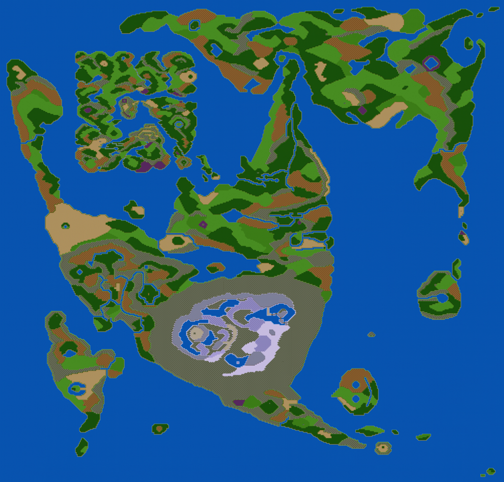 Slightly altered DQ2 Overworld map, made with RPGmaker VX