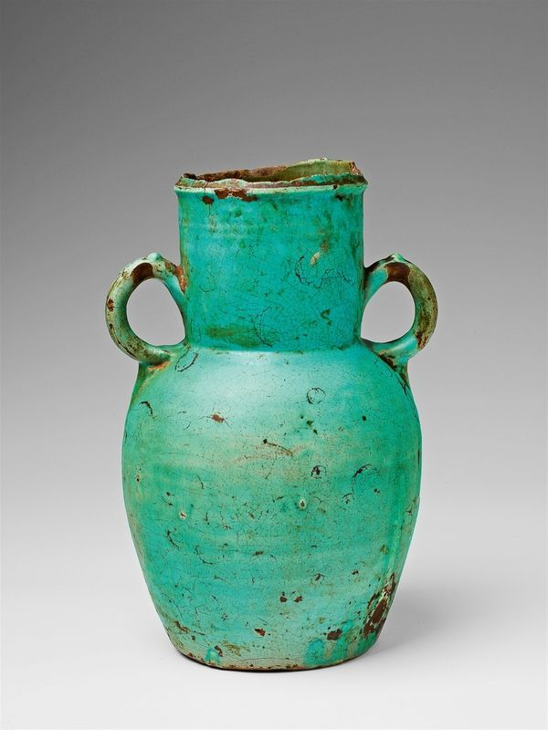 An Earthenware Amphora Presumably Iran 12th 14th Century Ceramics Ideas Inspiration Pottery Islamic Art