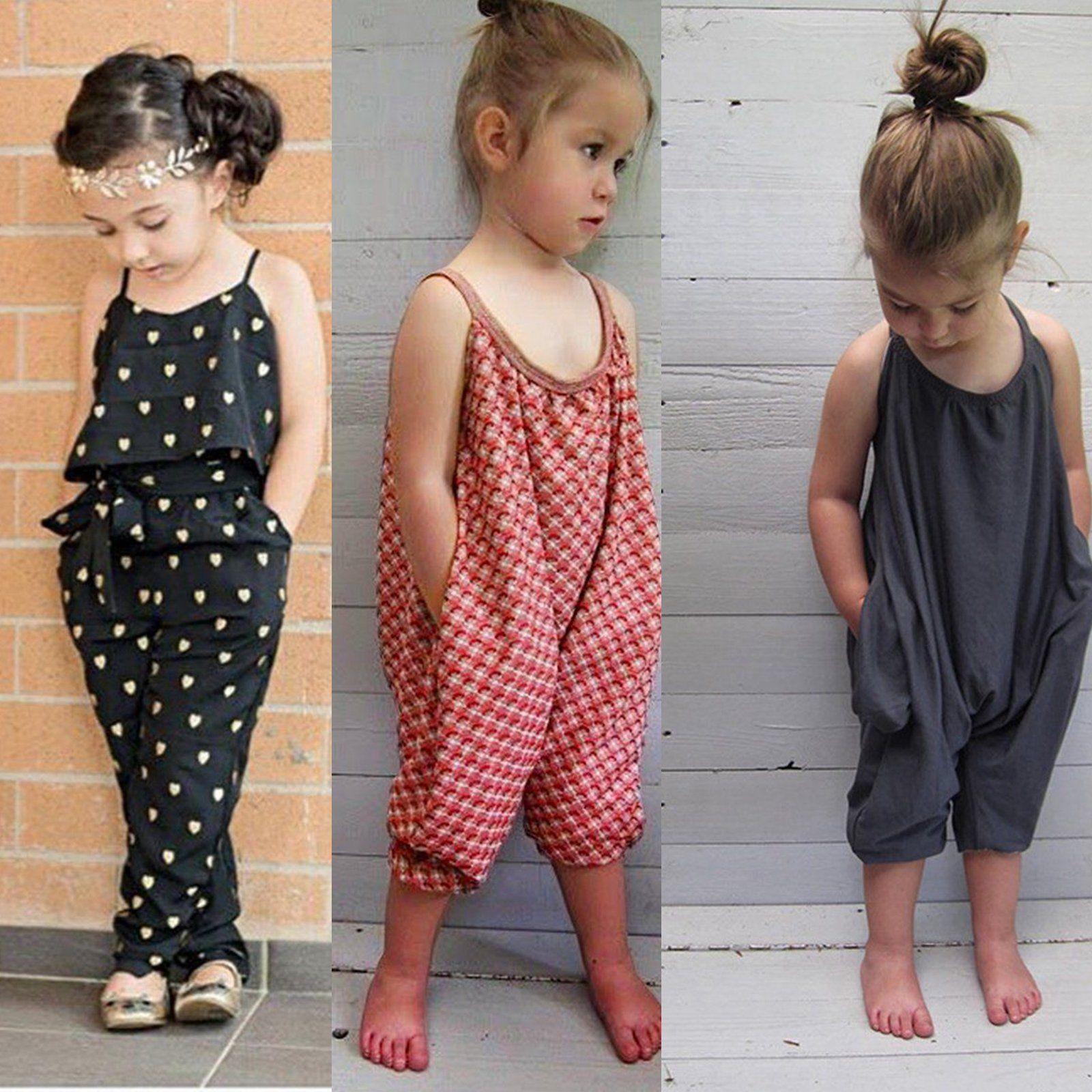 UK Baby Girls Boys Romper Jumpsuit Harem Pants Clothes Outfits Trousers 0-18M