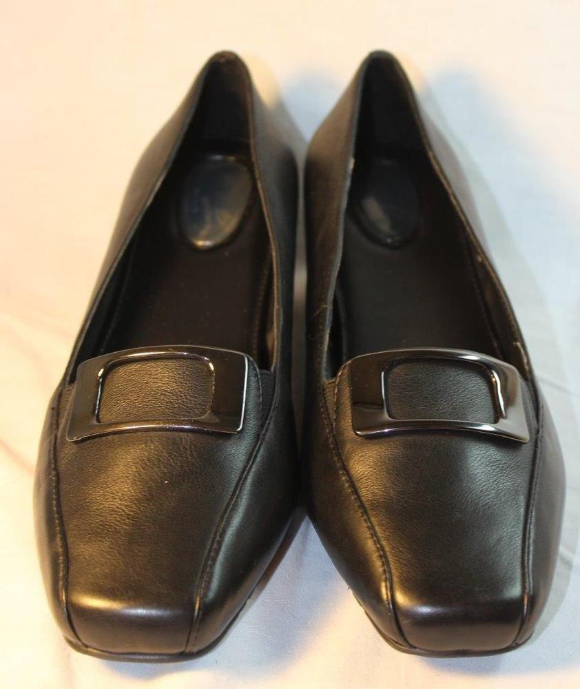 4d30f70df Drew Shoes Amanda Dress Buckle Heels Orthotic Diabetic Womens Black 7.5 WW  WIDE  Drew  PumpsClassics