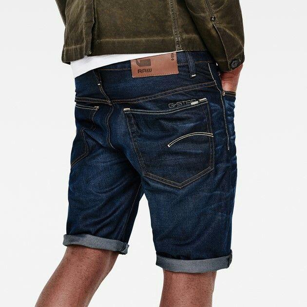 7ace879c0d1 G-Star - 3301 Shorts dark aged | Men's denim in 2019 | Denim shorts ...