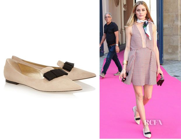 Olivia Palermo's Jimmy Choo 'Gala' Suede Point-Toe Flats - Red Carpet  Fashion Awards
