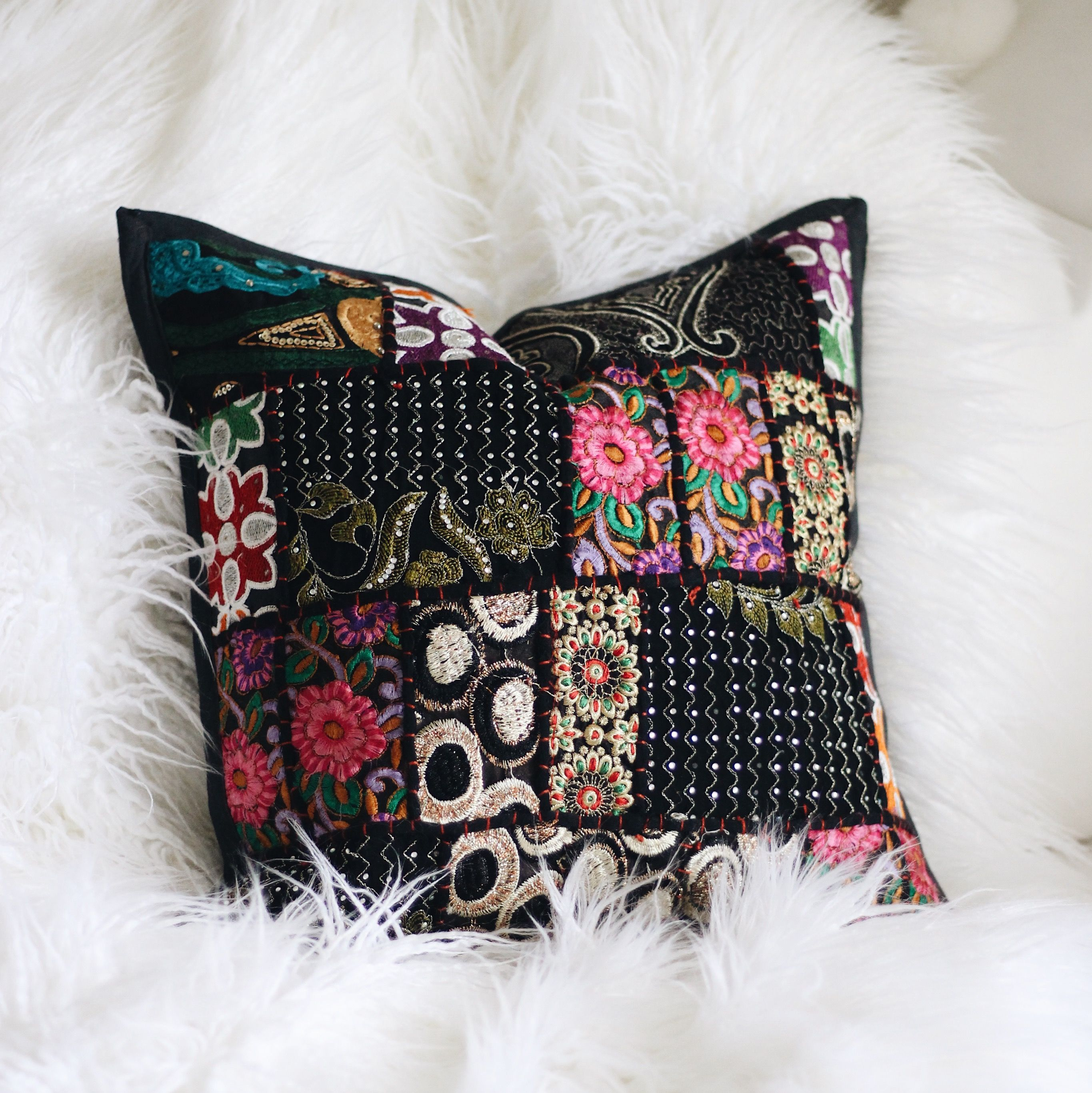Claire bloom patchwork pillow covers patchwork pillow pillows and