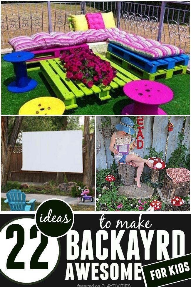 DIY Backyard Ideas For Kids | Backyard play, Diy backyard ...