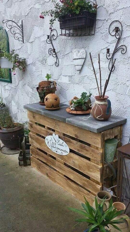 Gartenregal aus Paletten Wohnidee Europalette Pinterest