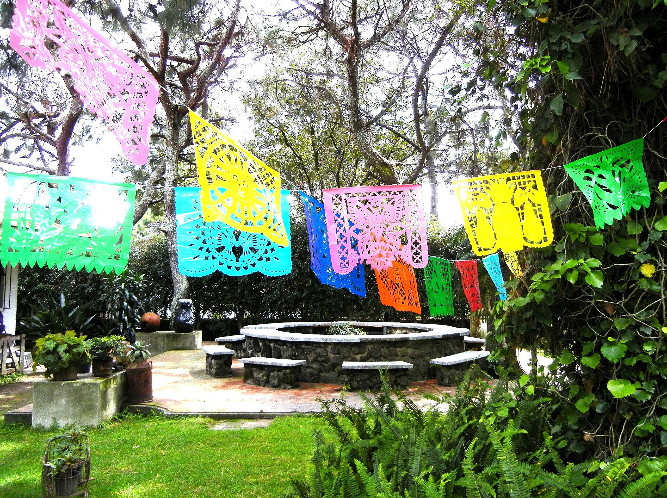 Halloween Diy Mexican Decorations Papel Picado Banner 2 Pack