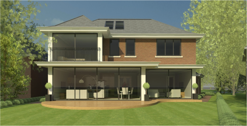 the structural design this large modern style house surrey new home - Modern New Houses