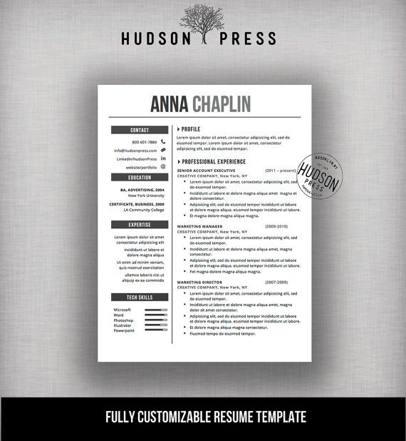Resume Template CV Template + Cover Letter Letterhead Stationery - Modern Resume Styles
