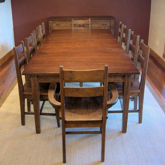Handmade Dining Room Tables: Hickory Dining Table With Handmade Chairs Buffet By