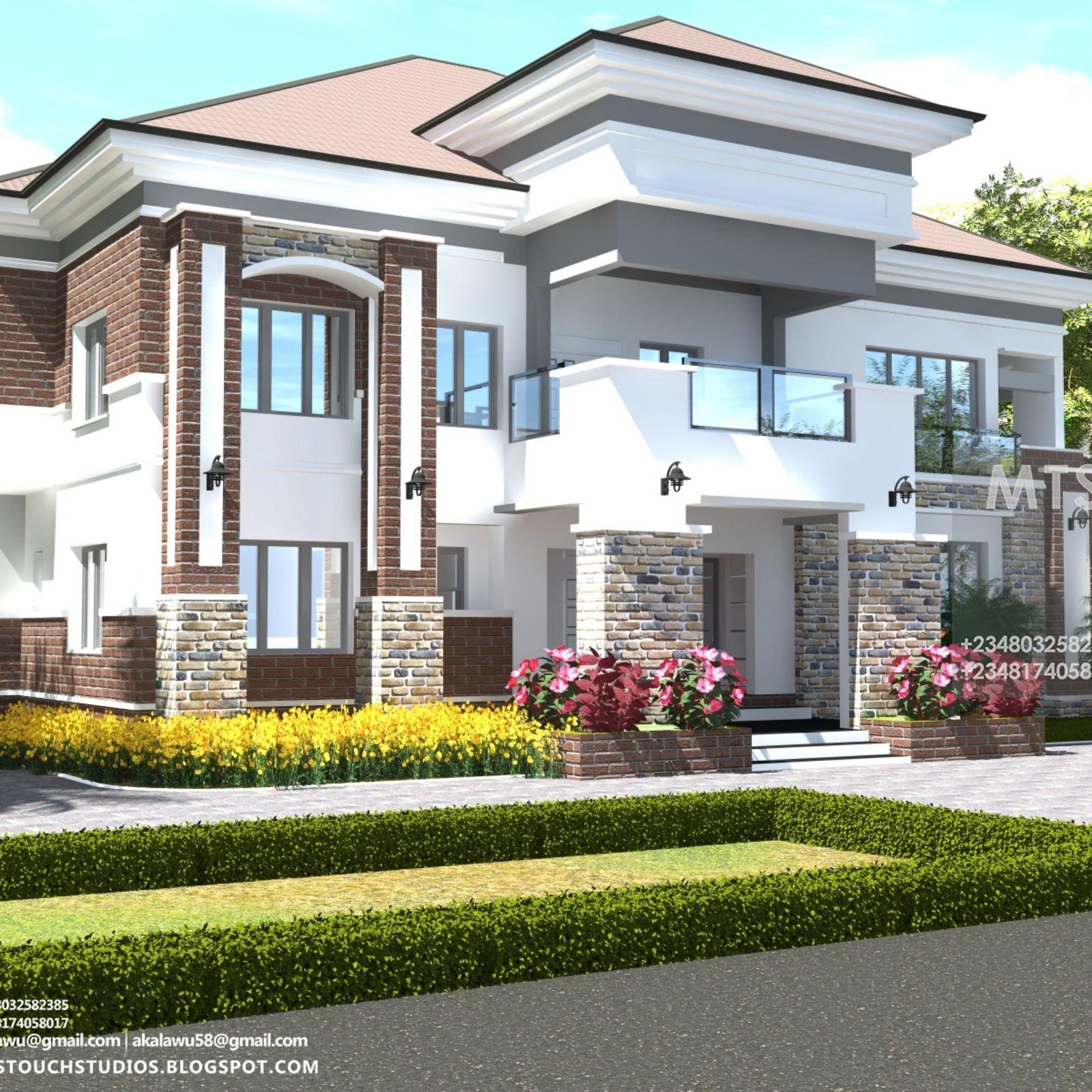 6 BEDROOM DUPLEX (RF D6003) -   Duplex house design ...