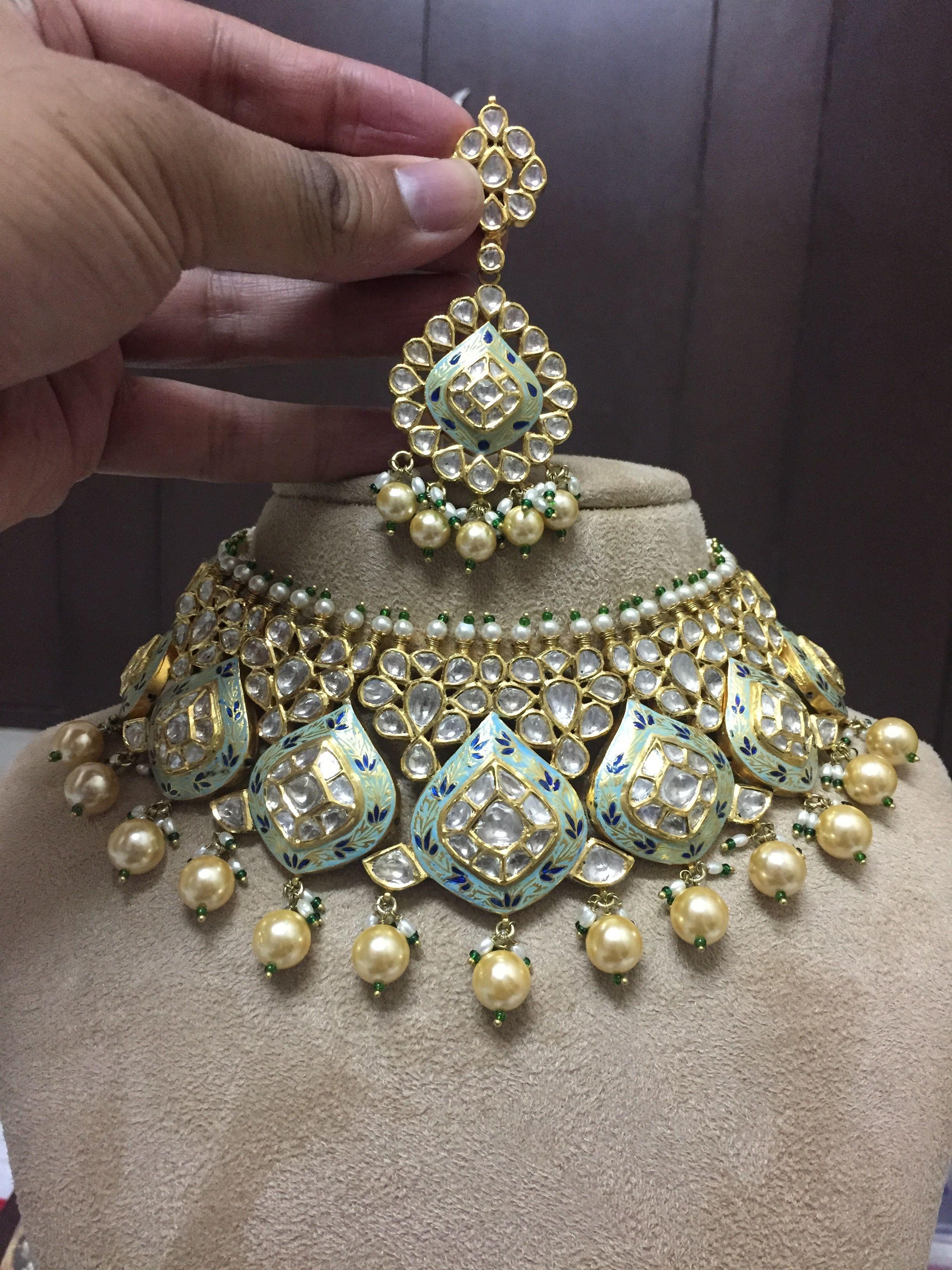Pinterest u bhavi goldjewellerykundan gold jewellery kundan
